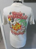 Vtg Spuds Mackenzie Beach Patrol Bud Light Beer 1986 White T-Shirt Sz M STAINED!