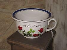 Ancien Pot de chambre en faience Digoin Sarreguemines  A la Mariée