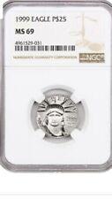 Moneda 25$ 1999 1/4 oz. Platinum Eagle NGC MS69