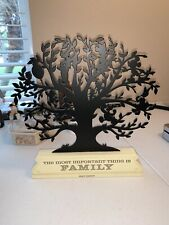 "Hallmark Walt Disney ""The Most Important Thing is Family"" Metal Tree Silhouette"