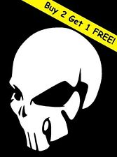 HUMAN SKULL VINYL DECAL STICKER WINDOW WALL CAR BUMPER LAPTOP SKELETON WHITE JDM