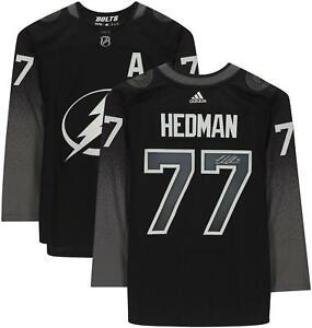 Victor Hedman Tampa Bay Lightning Signed Black Alternate Adidas Authentic Jersey
