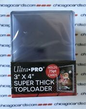 25 Ultra Pro 3x4 75pt Super Thick Toploader Holder for Thicker Jersey Cards