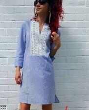Zara Cotton 3/4 Sleeve Striped Dresses for Women