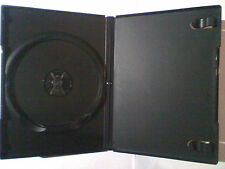 6x Black 14mm DVD Case's for 1 Disc dvd's NEW with clear pocket cover sleeve
