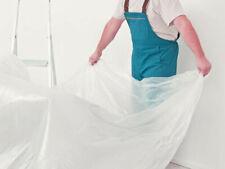 2X STANDARD (7 micrometers) Large Polythene Dust Sheet 4m x 5m Decorating Painti