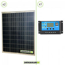 Kit Solare Fotovoltaico 160W 12V Regolatore PWM 10A Nvsolar Camper Casa Nautica
