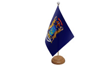 MICHIGAN USA americana da tavolo Bandiera con di legno supporto
