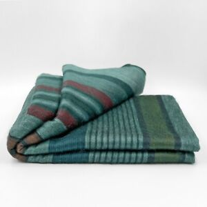 """Soft and Warm Striped ALPACA Wool Throw Blanket 97""""x67"""" Queen bed sofa couch"""