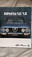Alfa Romeo Alfetta 1.6/1.8 1981 car sales brochure Italian text/ Blue car