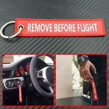 1xRemove Before Flight Car Auto key Chain Luggage Tag Zipper Keychain Embroidery