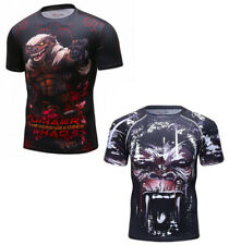 CODY LUNDIN BJJ MMA Animal Rash Guard Short Sleeve Training Compression Shirt