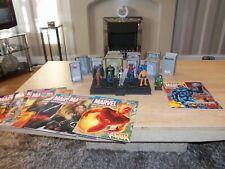 Eaglemoss Marvel Comics Classic Fantastic Four Figures + stand Silver Surfer +