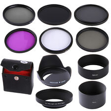 58mm UV CPL FLD ND2 ND4 ND8 ND Filter Kit + Hood For Canon T6s T6i T5i 18-55mm