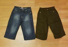 2 Shorts, Bermudas, kurze Hosen Jeans und Khaki Gr. 164