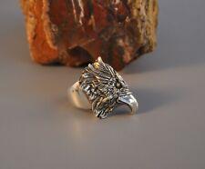 Vintage Sterling Men's Ring - Cast Silver Eagle  - Robert Drozd - Size 11 3/4