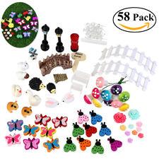 58pcs Miniature Fairy Dollhouse Landscape Garden Terrarium Figurine Bonsai