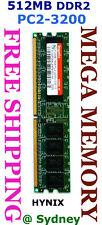 HYNIX 512MB DDR2 PC2-3200 400MHz Desktop Memory Ram @ Sydney + FREE POST