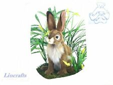 Black Tailed Jack Rabbit  Plush Soft Toy by Hansa from Lincrafts. 5911