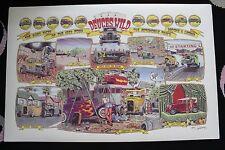 2'x3' ROBERT WILLIAMS DEUCES WILD Poster Ford Model A Car Art Man Cave Hot Rod
