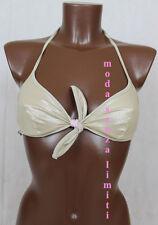 calzedonia bikini R217 solo reggiseno mare piscina doubleface oro 2 S 70 85 32
