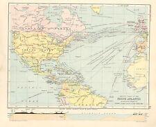 1891 Vittoriano MAP ~ NORD ATLANTICO ~ Steamer percorsi & connessioni Isole Britanniche