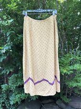 Vintage April Cornell Skirt Prairie Yellow Size M Rayon