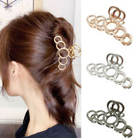 Women Big Hair Claw Round  Hairpin Novelty Acrylic Crab Elegant Hair Clip UK