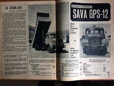 2 Reportajes Camión Sava Berliet De 1969