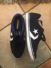 MEN'S Black/  WHITE CONVERSE CONS TRAINERS SIZE 7 GOOD WORN CONDITION