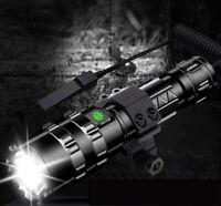 TACTICAL GUN RIFLE TORCH CREE LED USB CHARGING XML L2 FLASHLIGHT HARD CASE