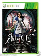 Used Xbox 360 Alice: Madness Returns MICROSOFT JAPAN JAPANESE JAPONAIS IMPORT