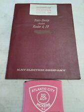Kay Electric Co Vari-Sweep Models Radar & Jf Operating And Maintenance Manual