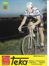 CYCLISME carte cycliste GEER MALFAIT équipe TEKA 1981
