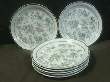 "(7)Lovely Arklow Honey Stoneware""Avonmore""8156 Blue Floral Salad Plates, Ireland"