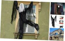 New listing 63 Inch Life-Size Hanging Climbing Dead Zombie Monster Prop Outdoor Halloween