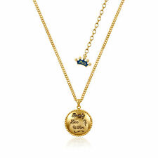 "Disney Beauty & the Beast Gold-Plated ""Beauty Lies Within"" Locket Necklace"