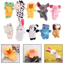 10pcs Cute Finger Animal Puppets Cartoon Plush Cloth Toys Doll For Baby Boy Girl