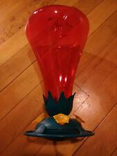 Plastic Opus Garden Song Hibiscus Humming Bird Feeder Pink 48 oz Capacity