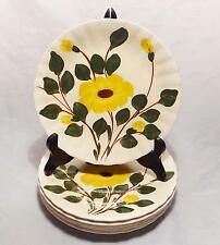 LOT O F 6 BLUE RIDGE POTTERY MOUNTAIN GLORY YELLOW FLOWERS LUNCHEON SALAD PLATES