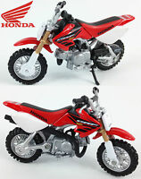 HONDA CRF50 1:18 Die-Cast Motocross MX Toy Model Bike Red Mini NEW MAISTO
