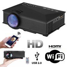 VIDEOPROIETTORE WIFI HD 1080P LED PROIETTORE 1200 LUMENS HDMI USB VGA SD AV TV