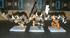 3 Chaos Ogre Warhammer Age of Sigmar Warriors Beasts Of Chaos Ogor GW Metal rare