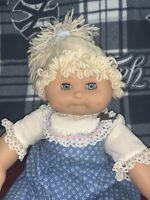 "Vtg 19"" Girl Doll CPK Blonde Cabbage Patch Friend Corduroy Body"