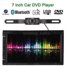 """Double 2 DIN 7"""" HD Car DVD/USB/SD Player Bluetooth Radio AUX in HD Camera C5Y5"""