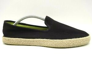 Sperry Top Sider Black Canvas Espadrille Rim Casual Loafers Shoes Men's 10.5 M