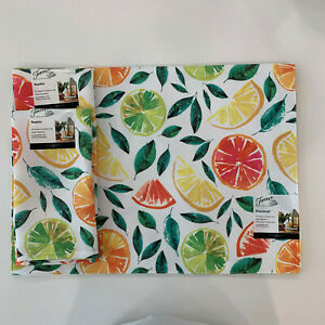 Set of 2 Fiesta  Placemats and Napkins Citrus Bliss