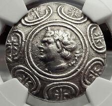 ANTIGONOS II GONATAS 274BC Silver Tetradrachm Ancient Greek Coin PAN NGC i59095
