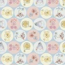 Disney Winnie the Pooh Friend Names premium 100% cotton fabric by the yard