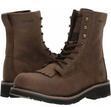 New Mens 10 Ew Wolverine Ranchero Kiltie Laceup Steel Toe Eh Brown Work Boots